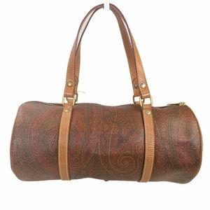 ETRO satchel bag Brown PVC